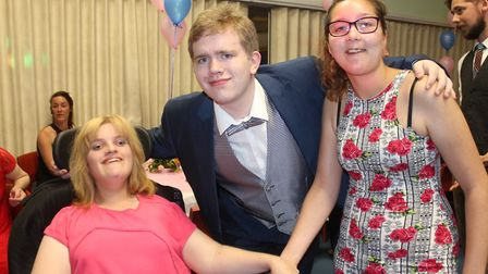 Friends Amy, Jackson and Eloise at Woodfields' promPhoto: KAREN BETHELL