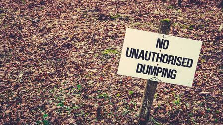 No unauthorised dumping sign. Picture: NNDC