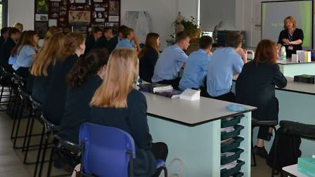 Students at a skills festival and careers day. Picture: NNDC