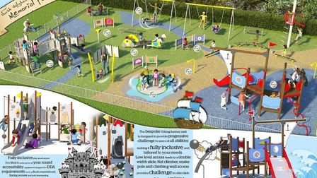 North Walsham Memorial Park, as it will look. Pictures: supplied by NW Play