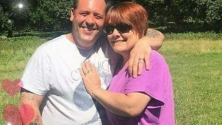 Sean Smiles-Hall, 47, a mechanic from North Walsham, pictured with wife Jo, 44, has spoken of his hu