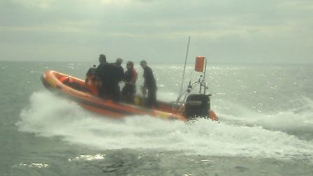 The new Rigid Inflatable Boat (Rib) launched by the British Sub Aqua Club's East Anglian Branch. Pic