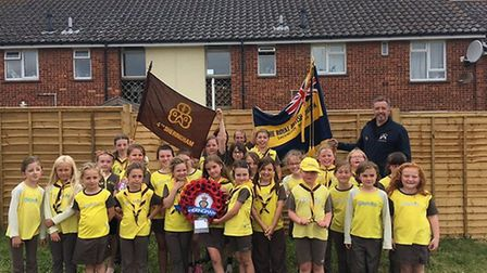 The Sheringham 4th Brownies at the send-off. Pictures: Eddie Mayell