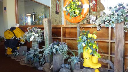 One of the floral arrangements at Sheringham flower festival. Pictures: Rosa West