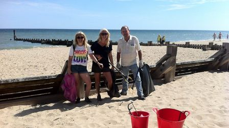 Mundesley beach clean up, 5 August 2018. Picture: Michelle Duddy