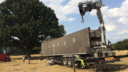 Setting up the stage for the Blickling Proms/ Classic Ibiza events. Pictures: David Bale
