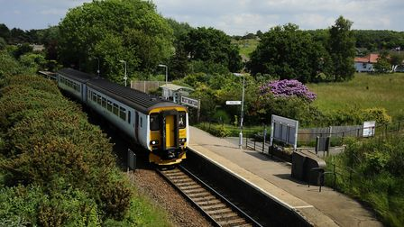 A Greater Anglia Train travelling the Bittern Line into at West Runton.Picture: MARK BULLIMORE