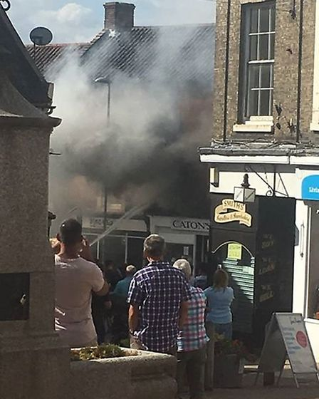 Firefighters were called to the scene of a fire in North Walsham. Picture: AMBER ROUNCE