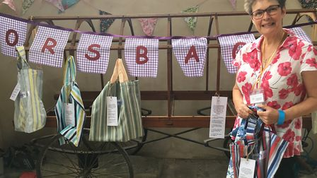 Jo Haywood from North Walsham's St Nicholas Church and Morsbags at Worstead church for the village f