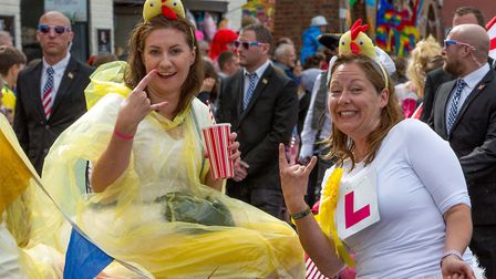 Crowds of spectators lined the streets of Wells to watch the annual Carnival, on Saturday, August 5,