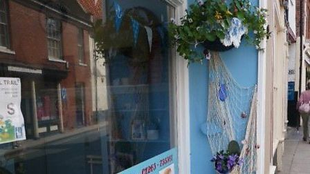 Aylsham in Bloom. Bonds fish and chip shop. Pictures: submitted by Linda Riseborough