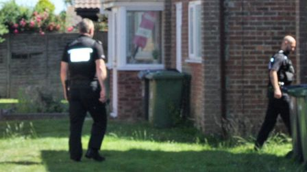 The house in Walcott where the body was found. Picture: Maurice Gray