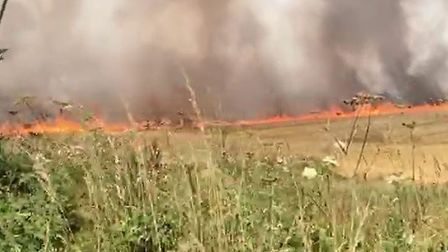 Fire crews from Mundesley, North Walsham and Stalham were called to the blaze at Bradfield Road shor