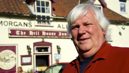 Clive Stockton outside the Hill House Inn Picture: MARK BULLIMORE