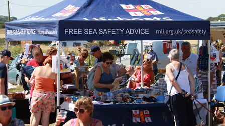 Happisburgh Lifeboat Day. RNLI Shop. Pictures: RNLI