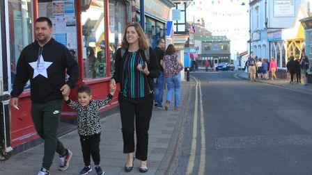 High Street, Sheringham, where a new task group is looking at pavement widening and traffic calming