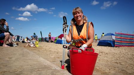Dedicated volunteers turned out in force at the latest EDP Big Coast Clean Up at Sea Palling. Volunt