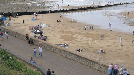 A sand drawing of the British Isles was created on the beach at Cromer. Picture: DONNA-LOUISE BISHOP
