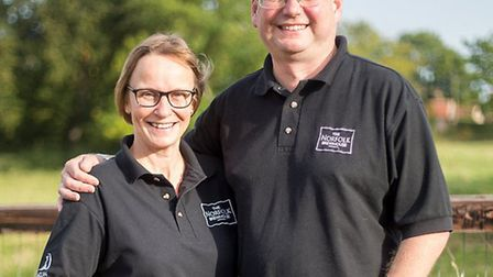 Rachel and David Holliday, founders of Norfolk Brewhouse in Hindringham. Picture: KEITH OSBORN