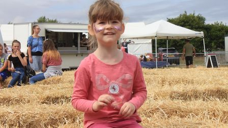 Three-year-old Blossom Royal joining in the fun at Cromer Carnival's game and country fair.Photo: KA