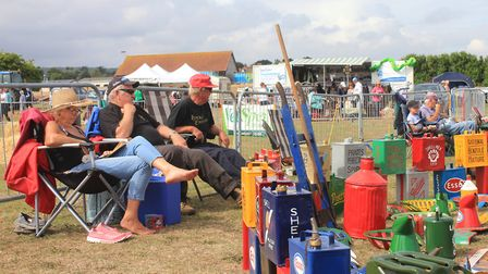 Starting Handle Club members enjoying the sunshine at Cromer Carnival's game and country fair.Photo:
