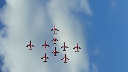 The Red Arrows over Cromer. Picture: Lianne Burden