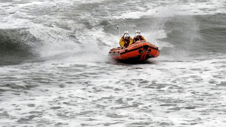 Cromer RNLI was called out to assist an inflatable boat in difficulties off Overstrand. Picture: Ch
