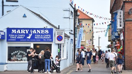 Cromer, after the weekend of disorder at the end of Cromer Carnival last year. Picture : ANTONY KELL