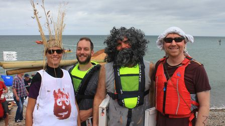 'Castaway' crew members (from left): Emma White, Maff Sharp, Rob Emery and Adam Groom.Photo: KAREN B
