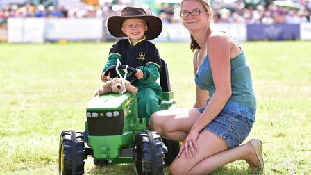 A scene from last year's Aylsham Show. Jack Stevens with his mum Claire.Picture: Nick Butcher
