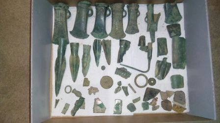 David Lovett's Bronze Age hoard. Picture: Submitted by David Lovett