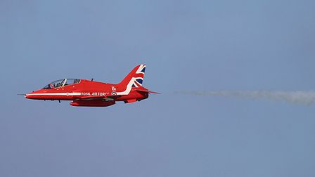 The Red Arrows at Cromer Carnival 2018. Photograph: Alan Palmer