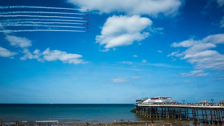 The Red Arrows over Cromer. Picture: JON WALKER