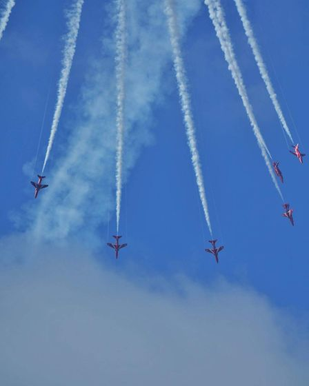 The Red Arrows over Cromer. Picture: Michael Stearman