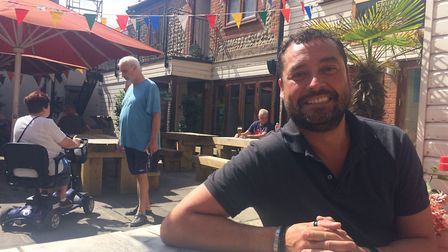 Nick Copeman, manager of The Wellington in Cromer, in the pub courtyard. Photo: Jessica Frank-Keyes
