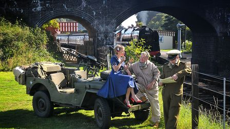 The North Norfolk Railway 1940s weekend: at Weybourne Station in 2011. PHOTO: ANTONY KELLY