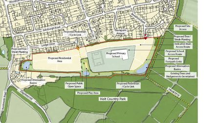 The proposed residential development in Holt. Pictures: Gladman Developments