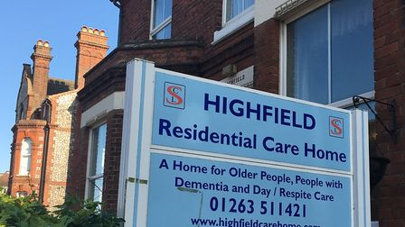 Highfield Residential Care Home, on St Mary's Road, Cromer. Photo: Jessica Frank-Keyes
