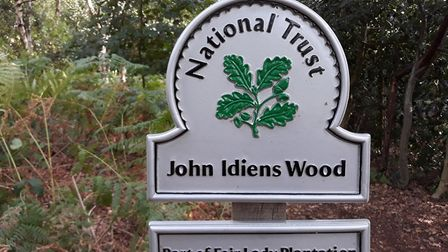 A group marked the naming of an area of woodland in West Runton John Idiens Wood, in memory of the m