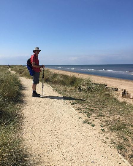 Tim Daver walked from Sea Palling to Hunstanton for the Cure Parkinson's Trust. Photo: The Cure Park