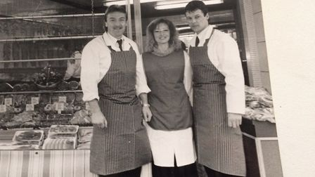 Flashback to 1998. L-R, Icarus Hines, his wife Sandra, and then manager Andy Williams. Pictures: Su