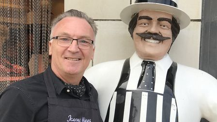 Icarus Hines is stepping down from his butcher shop after 33 years. Picture: Neil Didsbury