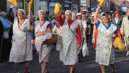 The North Norfolk Railway's 1940s weekend people's parade. Picture: KAREN BETHELL