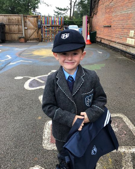 George Peckover, 5, who is going into Year 1 at St Nicholas House School in North Walsham. Picture: