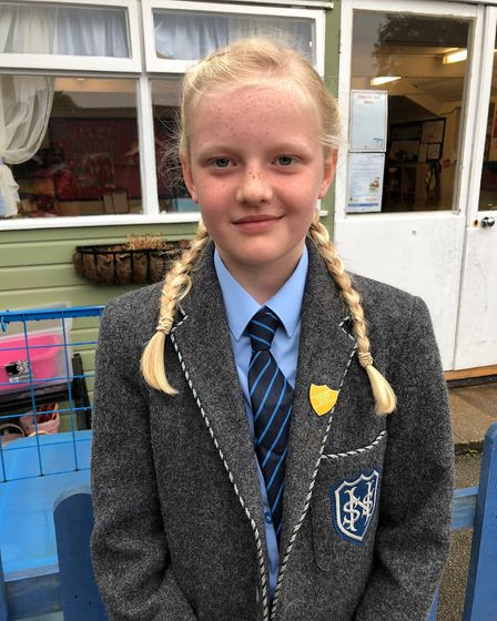 Imogen McVey, 10, was named St Nicks Head of School for this school year at St Nicholas House Scho