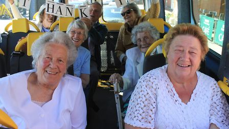 North Norfolk Community Transport (NNCT) passengers take a trip on the charity's new minibus. NNCT w