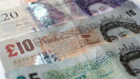 Stock photo of bank notes. There are reports of fake £20 notes circulating in north Norfolk. Photo: