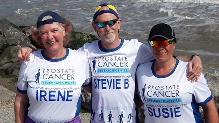 Irene Brown, 56, Steve Brown, 59, and Susie Bond, 46, call themselves the PCRC Runsters. Photo: PCRC