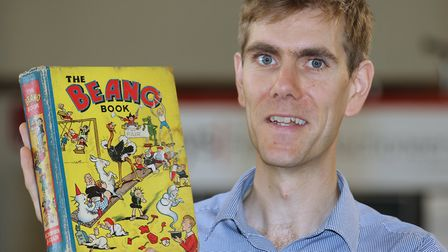 Keys head of books Robert Henshilwood with the 1940 Beano Annual. Pictures: Andy Newman