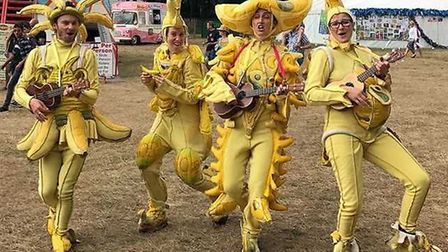 Walkabout musical act Banana Ukulele Band will be performing at the Aylsham Food Festival. Pictures: